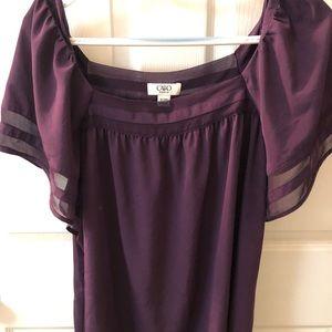 Beautiful dark purple summer blouse